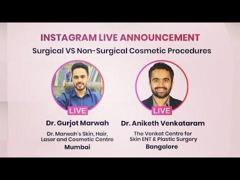 LIVE SESSION on surgical vs non surgical techniques. India cosmetic surgery. Venkat Center Bangalore
